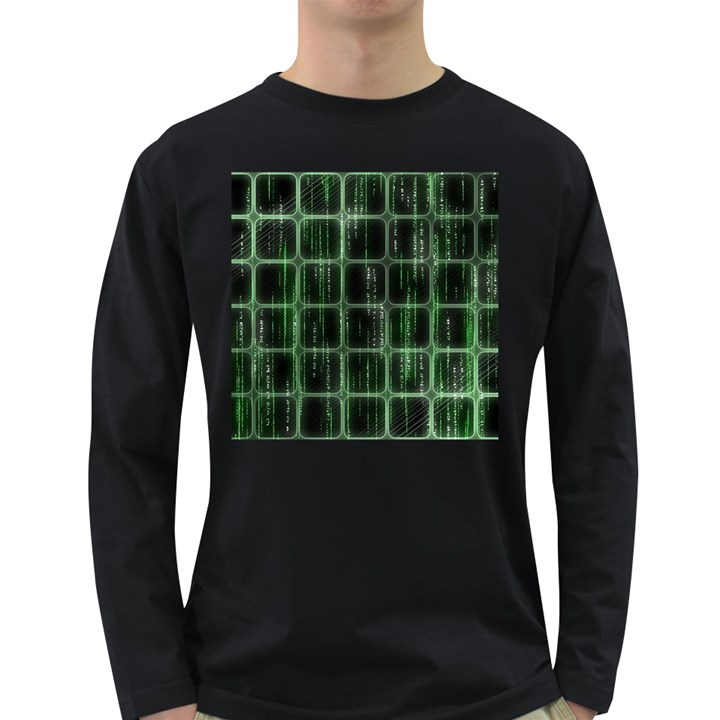 Matrix Earth Global International Long Sleeve Dark T-Shirts