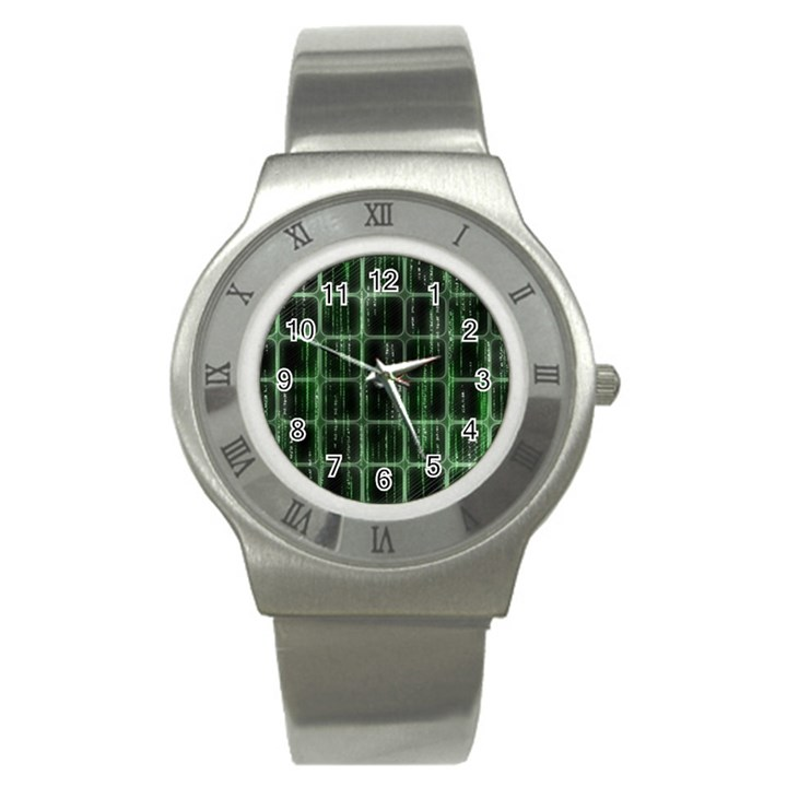 Matrix Earth Global International Stainless Steel Watch