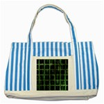 Matrix Earth Global International Striped Blue Tote Bag Front