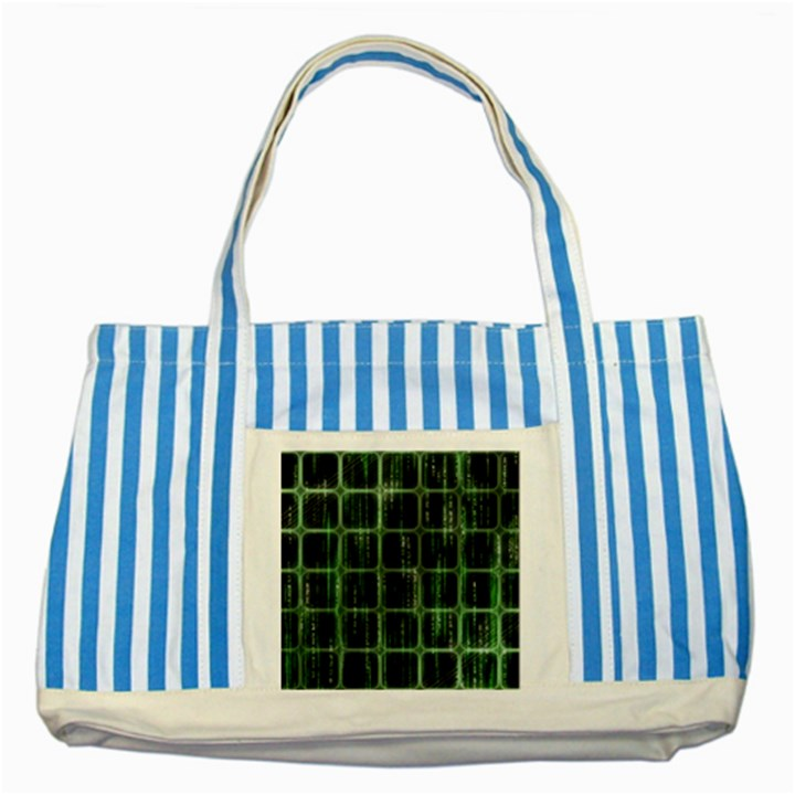 Matrix Earth Global International Striped Blue Tote Bag
