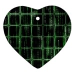 Matrix Earth Global International Heart Ornament (Two Sides) Back