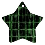 Matrix Earth Global International Star Ornament (Two Sides) Front