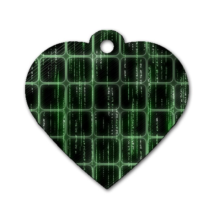 Matrix Earth Global International Dog Tag Heart (Two Sides)