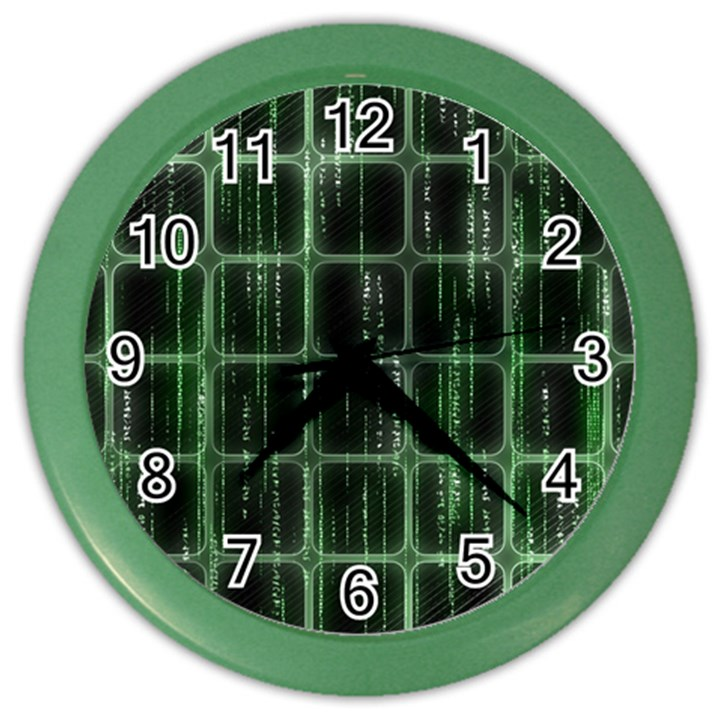 Matrix Earth Global International Color Wall Clocks