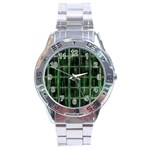 Matrix Earth Global International Stainless Steel Analogue Watch Front