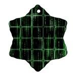 Matrix Earth Global International Ornament (Snowflake) Front