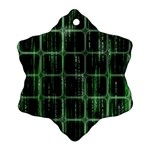 Matrix Earth Global International Snowflake Ornament (Two Sides) Back