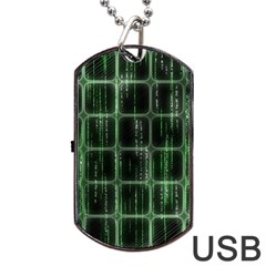 Matrix Earth Global International Dog Tag Usb Flash (one Side)