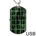 Matrix Earth Global International Dog Tag USB Flash (Two Sides) Front