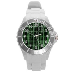 Matrix Earth Global International Round Plastic Sport Watch (l)