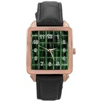 Matrix Earth Global International Rose Gold Leather Watch  Front