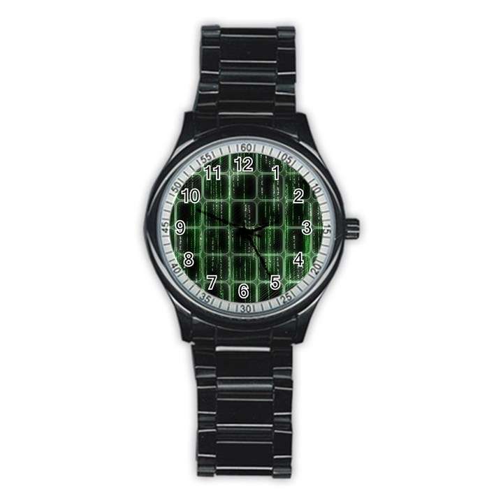 Matrix Earth Global International Stainless Steel Round Watch
