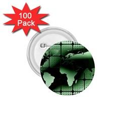 Matrix Earth Global International 1 75  Buttons (100 Pack)