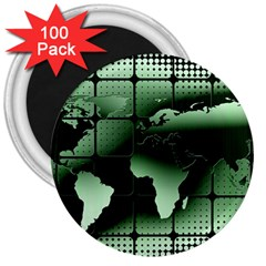 Matrix Earth Global International 3  Magnets (100 Pack)