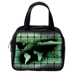 Matrix Earth Global International Classic Handbags (one Side)