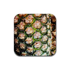 Pineapple Texture Macro Pattern Rubber Square Coaster (4 Pack)