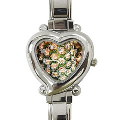 Pineapple Texture Macro Pattern Heart Italian Charm Watch