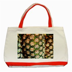 Pineapple Texture Macro Pattern Classic Tote Bag (red)
