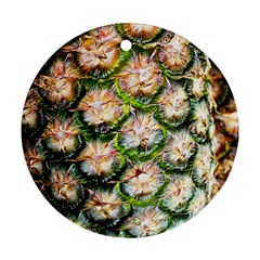 Pineapple Texture Macro Pattern Round Ornament (two Sides)