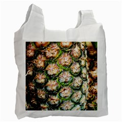 Pineapple Texture Macro Pattern Recycle Bag (two Side)