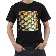 Pineapple Texture Macro Pattern Men s T Shirt (black)