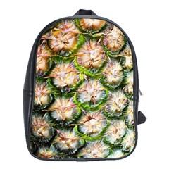 Pineapple Texture Macro Pattern School Bag (large)