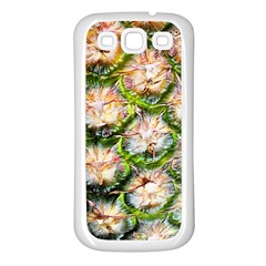 Pineapple Texture Macro Pattern Samsung Galaxy S3 Back Case (white)