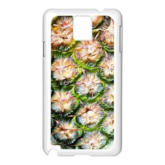 Pineapple Texture Macro Pattern Samsung Galaxy Note 3 N9005 Case (white)