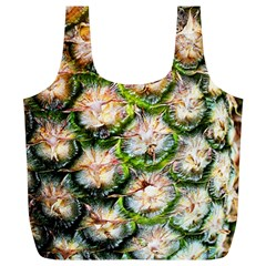 Pineapple Texture Macro Pattern Full Print Recycle Bags (l)