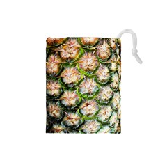 Pineapple Texture Macro Pattern Drawstring Pouches (small)