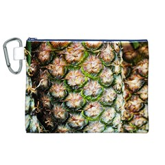 Pineapple Texture Macro Pattern Canvas Cosmetic Bag (xl)