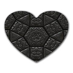 Tile Emboss Luxury Artwork Depth Heart Mousepads