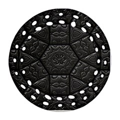 Tile Emboss Luxury Artwork Depth Round Filigree Ornament (two Sides)