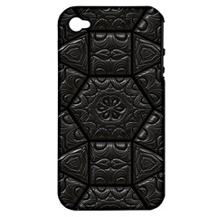 Tile Emboss Luxury Artwork Depth Apple Iphone 4/4s Hardshell Case (pc+silicone)