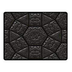 Tile Emboss Luxury Artwork Depth Double Sided Fleece Blanket (small)