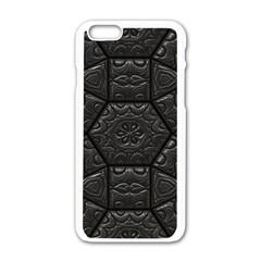 Tile Emboss Luxury Artwork Depth Apple Iphone 6/6s White Enamel Case