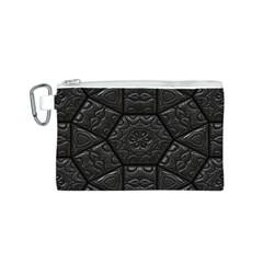 Tile Emboss Luxury Artwork Depth Canvas Cosmetic Bag (s)
