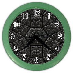Tile Emboss Luxury Artwork Depth Color Wall Clocks