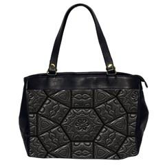 Tile Emboss Luxury Artwork Depth Office Handbags (2 Sides)