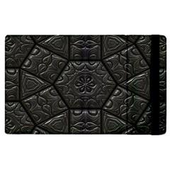 Tile Emboss Luxury Artwork Depth Apple Ipad 2 Flip Case