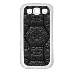 Tile Emboss Luxury Artwork Depth Samsung Galaxy S3 Back Case (white)