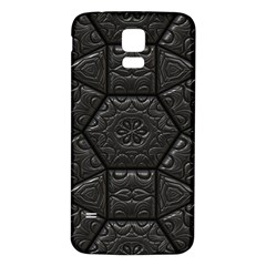 Tile Emboss Luxury Artwork Depth Samsung Galaxy S5 Back Case (white)