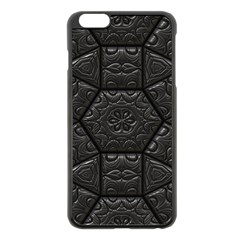 Tile Emboss Luxury Artwork Depth Apple Iphone 6 Plus/6s Plus Black Enamel Case
