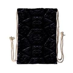 Tile Emboss Luxury Artwork Depth Drawstring Bag (small)