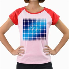 Tile Square Mail Email E Mail At Women s Cap Sleeve T Shirt