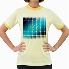 Tile Square Mail Email E Mail At Women s Fitted Ringer T Shirts