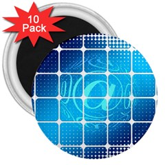 Tile Square Mail Email E Mail At 3  Magnets (10 Pack)