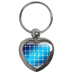 Tile Square Mail Email E Mail At Key Chains (heart)
