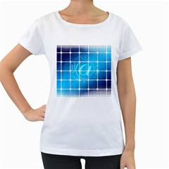 Tile Square Mail Email E Mail At Women s Loose Fit T Shirt (white)