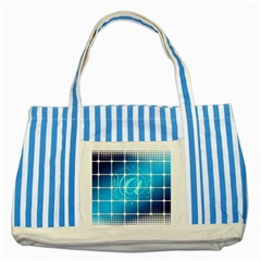 Tile Square Mail Email E Mail At Striped Blue Tote Bag